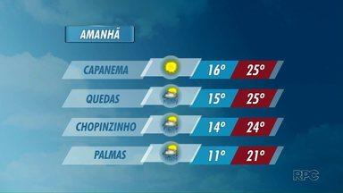 Confira a previsão do tempo para o oeste e o sudoeste - As temperaturas diminuem nos próximos dias nas duas regiões.