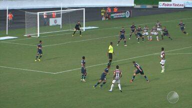 Fluminense de Feira vence o Sete de Setembro e abre boa vantagem para jogo de volta - Time jogou dentro de casa e contou com apoio da torcida.