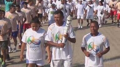 """""""Tour da Tocha"""": evento simbólico em fronteira reúne brasileiros, colombianos e peruanos - Revezamento simbólico não faz parte do comitê olímpico"""