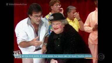 'Vídeo Show' homenageia os avós - No dia dos avós, o programa relembra a Vovó Naná, do programa 'Viva O Gordo'