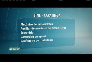 Sine de Caratinga oferta vagas em cinco áreas de atuação - Em Governador Valadares, sine disponibiliza oportunidades em várias áreas.