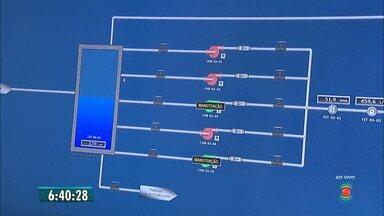 Controle do racionamento é feito com sistema forma informatizado em Campina Grande - Bom Dia Paraíba mostrou controle pela primeira vez.