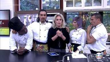 Final do Super Chef Celebridades terá prova ao vivo - Julianne Trevisol, Eri Johnson e André Gonçalves terã que fazer entrada, prato principal e sobremesa!