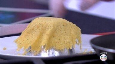 Cestinha de Parmesão - Aprenda a fazer esta delícia, que pode ser usada para servir pastas, sorvetes e muito mais