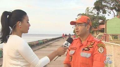 Corpo de Bombeiros do AP promove campanha de conscientização no balneário da Fazendinha - O Corpo de bombeiros está promovendo uma campanha de conscientização dos banhistas que forem até o balneário da Fazendinha.
