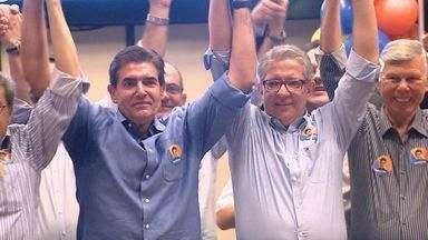 PSDB oficializa candidatura de Duarte Nogueira à prefeitura de Ribeirão Preto, SP - O promotor de Justiça Carlos Cézar Barbosa (PPS) foi anunciado como vice na chapa.