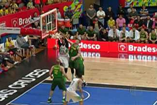 Seleção brasileira masculina de basquete vence e leva torneio amistoso - Brasil derrota a Lituânia por 64 a 62, na final. Torneio amistoso foi disputado no ginásio Hugo Ramos, em Mogi das Cruzes.