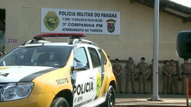 Começa a funcionar a unidade especializada em atender turistas em Foz do Iguaçu - A estrutura foi montada na Avenida das Cataratas.