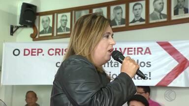 PT lança candidatura de Cristina Lopes à prefeita de São João del Rei - Atual vice-prefeita encabeça chapa de coligação de oito partidos.Coligação terá 35 homens e 15 mulheres concorrendo ao Legislativo.