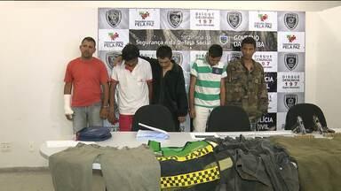 Cinco homens são presos acusados de participar de assaltos a bancos - Eles atuavam no estados da Paraíba, Pernambuco, Rio Grande do Norte e Alagoas.