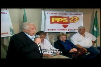 PSB e PPS em Araxá divulgam candidatos a vereador e coligação - Convenção foi realizada nesta quarta-feira (3).Partidos confirmaram apoio para a reeleição de Aracely de Paula.