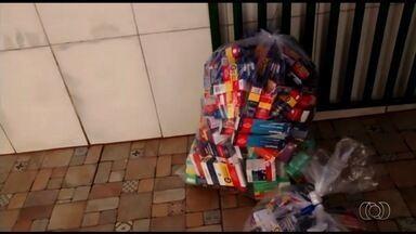 Polícia encontra remédios vendendo remédios controlados sem receita, em Goiânia - No local também foram encontradas receitas médicas falsas.