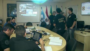 Policiais do Brasil, Paraguai e Argentina trabalham em conjunto para reforçar segurança - Eles vão monitorar o que acontece na fronteira durante a Olimpíada.