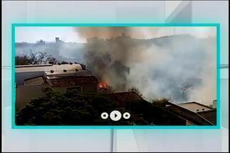 Sete queimadas são registradas pelo Corpo de Bombeiros em Divinópolis - A equipe da TV integração registrou um dos casos. O fogo começou às 14h e terminou às 16h40.