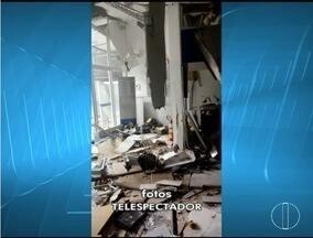 Bandidos explodem caixas de duas agências bancárias em Itamarandiba - Cerca de 20 homens fortemente armados participaram da ação.