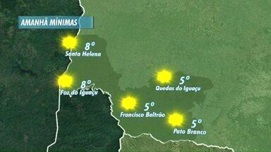 Quinta feira começa com temperaturas baixas na região - Veja a previsão no mapa