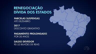 Renegociação da dívidas dos estados com a União é discutida na Câmara - O Rio Grande do Sul tem uma dívida estimada em 52bilhões de reais.