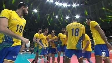 Brasil vence a França por 3 a 1 e está nas quartas de final do vôlei masculino - Brasil vence a França por 3 a 1 e está nas quartas de final do vôlei masculino
