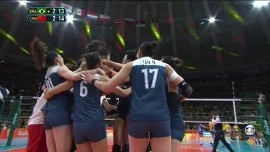 Melhores momentos: Brasil 2 x 3 China pelas quartas de final do vôlei feminino - Melhores momentos: Brasil 2 x 3 China pelas quartas de final do vôlei feminino