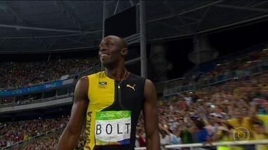 Usain Bolt conquista nove ouros em três Olimpíadas seguidas - A noite de sexta-feira (19) foi histórica no Engenhão. A despedida de Usain Bolt dos Jogos Olímpicos.