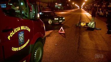 Motociclista fica ferido em acidente na avenida República Argentina - O rapaz de 26 anos foi socorrido pelo Siate e levado ao hospital.