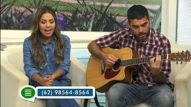 Cantora gospel Gabriela Rocha faz show em Goiânia - Ela cantou alguns de seus sucessos no JA 1ª Edição.