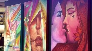 Exposição reúne telas de 2 renomados grafiteiros do DF - Daniela Toys e Mikael Omik aceitaram um desafio: acostumados a fazer arte de rua, os dois artistas plásticos resolveram pintar telas e surpreenderam.