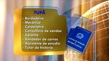 PAT de Tupã oferece oportunidades de emprego - O Posto de Atendimento ao Trabalhador (PAT) de Tupã (SP) está oferecendo oportunidades de emprego para bordadeira, mecânico, caldeireiro, consultora de vendas, gerente, vendedor de carros, assistente de estúdio e tutor de história. O PAT fica na Avenida Tapuias, 907.
