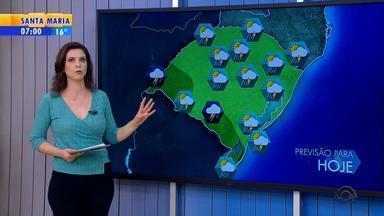 Tempo: terça-feira (30) é marcada pela instabilidade no RS - Segue abafado em vários pontos por causa da umidade alta.