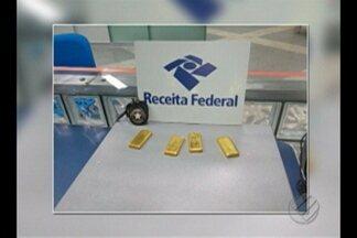 Carga de ouro sem documentação é apreendida no aeroporto de Belém - Fiscais apreenderam cerca de 3,4 kg de ouro em barras nesta terça-feira (30).