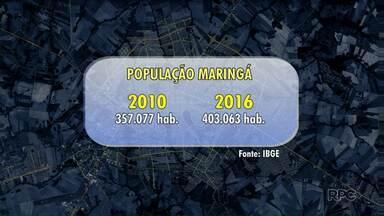 IBGE estima que Maringá tenha mais de 400 mil habitantes - O IBGE divulgou hoje a estimativa populacional das cidades brasileiras