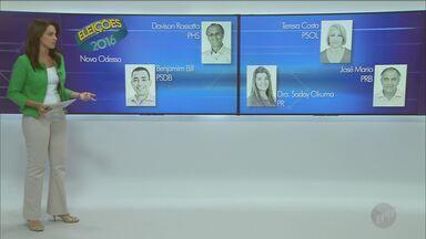 Confira quem são os candidatos às Prefeituras de Cordeirópolis e Nova Odessa - São cinco candidatos em Cordeirópolis, e outros cinco em Nova Odessa.