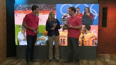 Play nos Jogos: Fabi é a convidada do dia do programa da web - Comentarista do Time de Ouro da TV Globo e medalhista olímpicoa vai ao estúdio para comentar os eventos do dia