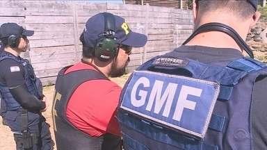Guardas municipais de Florianópolis têm treinamento e devem voltar a trabalhar armados - Guardas municipais de Florianópolis passam por treinamento e devem voltar a trabalhar armados