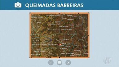Queimada atinge a região oeste e fumaça já chega em Barreiras; veja na Previsão do Tempo - O período de baixa umidade relativa do ar pode ter ajudado no aparecimento das queimadas; confira.