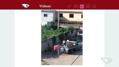 Moradores reclamam do lixo no bairro Divino Espírito Santo em Vila Velha no ES - Prefeitura de Vila Velha informou que limpa a rua num dia e no outro já tem sujeira.