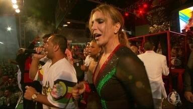 """Grande Rio define samba que vai homenagear Ivete Sangalo no desfile de 2017 - A Acadêmicos do Grande Rio foi a primeira escola a definir o samba para o desfile do ano que vem. O enredo """"Ivete do Rio ao Rio"""" vai homenagear a cantora Ivete Sangalo. Veja como foi o anúncio do samba campeão."""