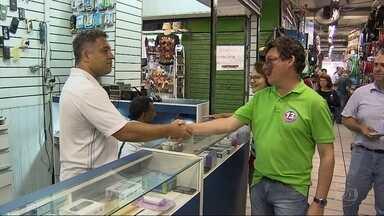 Reginaldo Lopes (PT) promete incentivos ao comércio popular de Belo Horizonte - Ele visitou lojistas de um shopping popular do centro da capital mineira.