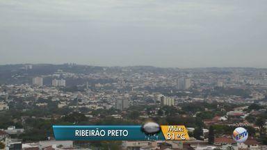 Confira a previsão do tempo para esta segunda-feira (5) na região de Ribeirão Preto, SP - Temperatura máxima deve ser de 31ºC.