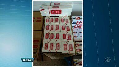 Polícia apreende mais de 400 marços de cigarro contrabandeados - De acordo com a polícia, o material teria sido importado ilegalmente do Paraguai.