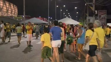 Manaus recebe jogo entre Brasil e Colômbia - Duelo ocorre na Arena da Amazônia