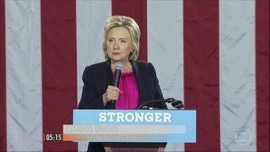 Pesquisas mostram intenção de votos nas eleições presidenciais nos EUA - Foram divulgadas duas pesquisas que mostram resultados diferentes na campanha eleitoral americana.