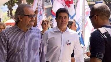Sargento Rodrigues (PDT) fala de propostas para saúde de BH, caso seja eleito - Ele percorreu ruas do centro da capital e conversou com eleitores.