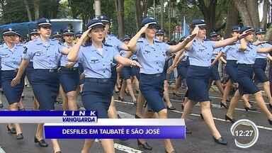 Dia 7 de setembro tem desfile cívico na região - Crianças participaram em São José e Taubaté.