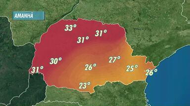 Sol e calor vão estar presentes no fim de semana - No domingo a máxima em Cascavel deve atingir os 30 graus.