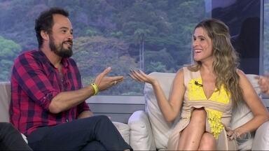 """Entrevista com Ingrid Guimarães e Paulo Vilhena - Os atores falam sobre o lançamento do filme """"Um Namorado Para Minha Mulher"""", de Júlia Rezende."""