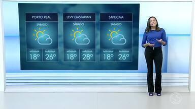 Confira a previsão do tempo para este sábado no Sul do Rio - Pode haver pancadas de chuva isoladas na região.