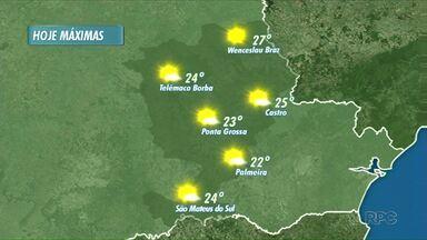 Máximas chegam aos 27 graus neste sábado - Tempo segue firme. Não há previsão de chuva.