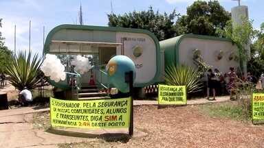 Moradores da Asa Sul querem posto 24 horas - em Taguatinga, um posto foi incendiado. Moradores da Asa Sul fizeram um abaixo-assinado pedindo um posto da PM 24 horas.