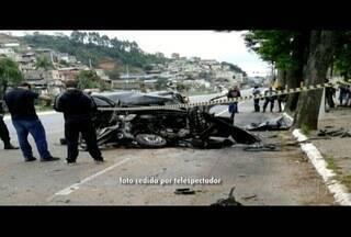 Jovem de 24 anos morre em acidente de carro em Nova Friburgo, no RJ - Carro atingiu árvore ao perder o controle.